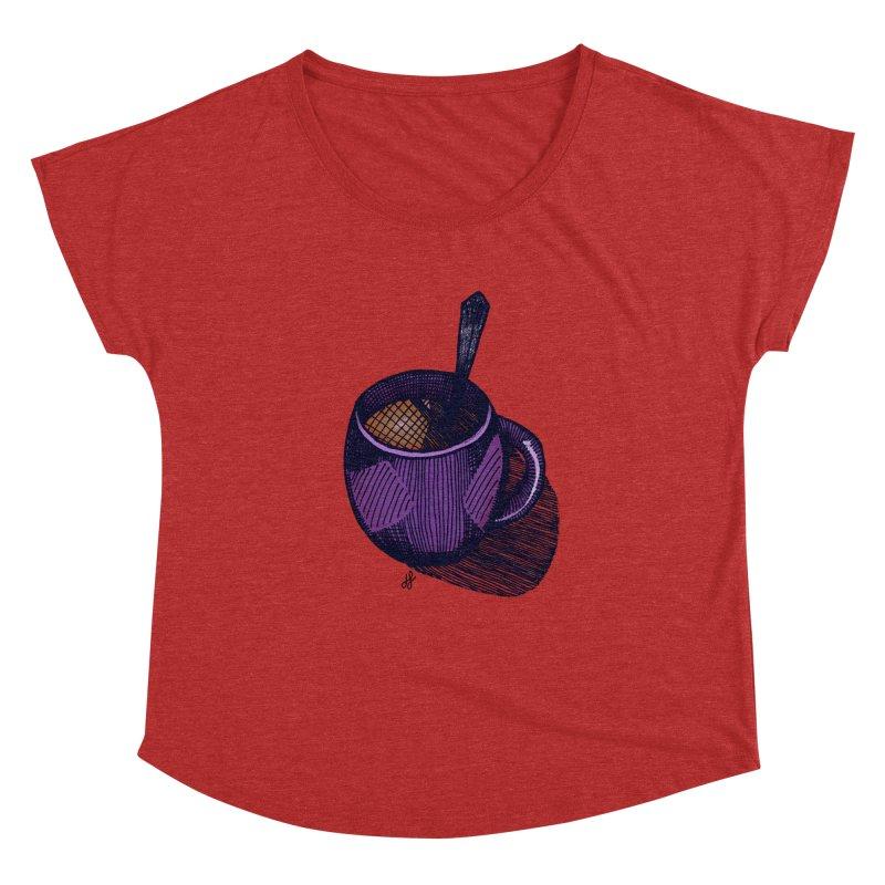 coffee mug (color version) Women's Dolman Scoop Neck by J. Lavallee's Artist Shop
