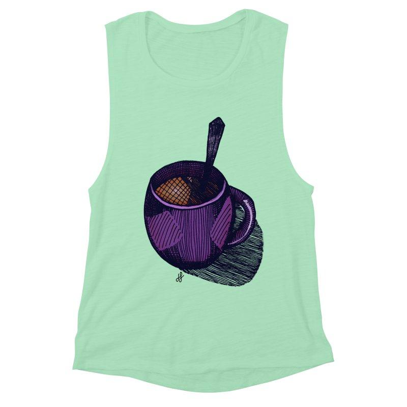 coffee mug (color version) Women's Muscle Tank by J. Lavallee's Artist Shop