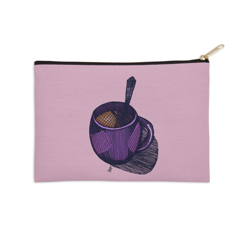 coffee mug (color version) Accessories Zip Pouch by J. Lavallee's Artist Shop