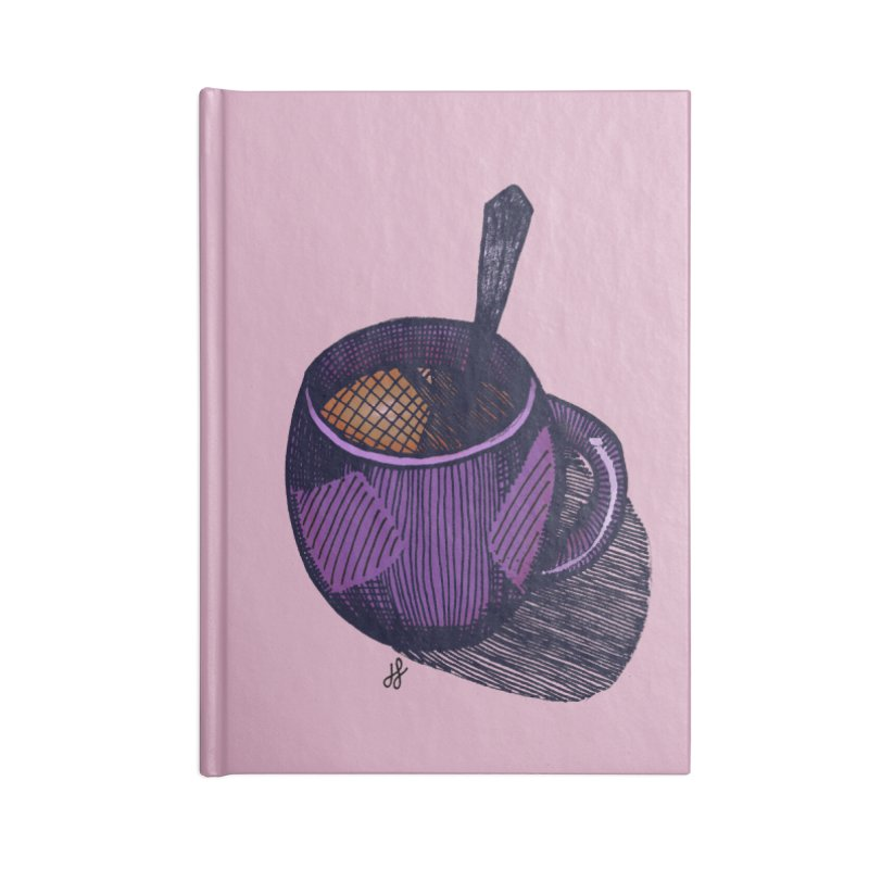 coffee mug (color version) Accessories Lined Journal Notebook by J. Lavallee's Artist Shop