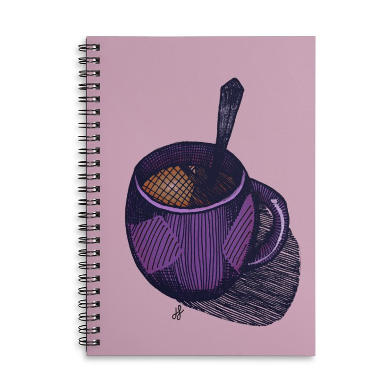 coffee mug (color version) Accessories Lined Spiral Notebook by J. Lavallee's Artist Shop