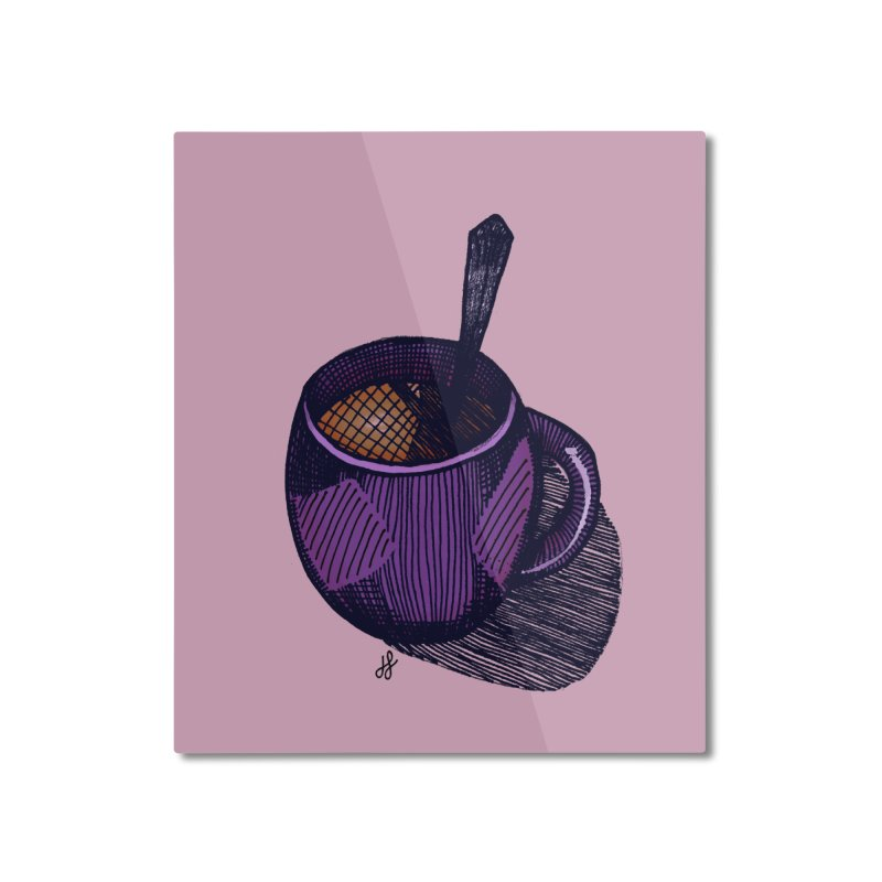 coffee mug (color version) Home Mounted Aluminum Print by J. Lavallee's Artist Shop