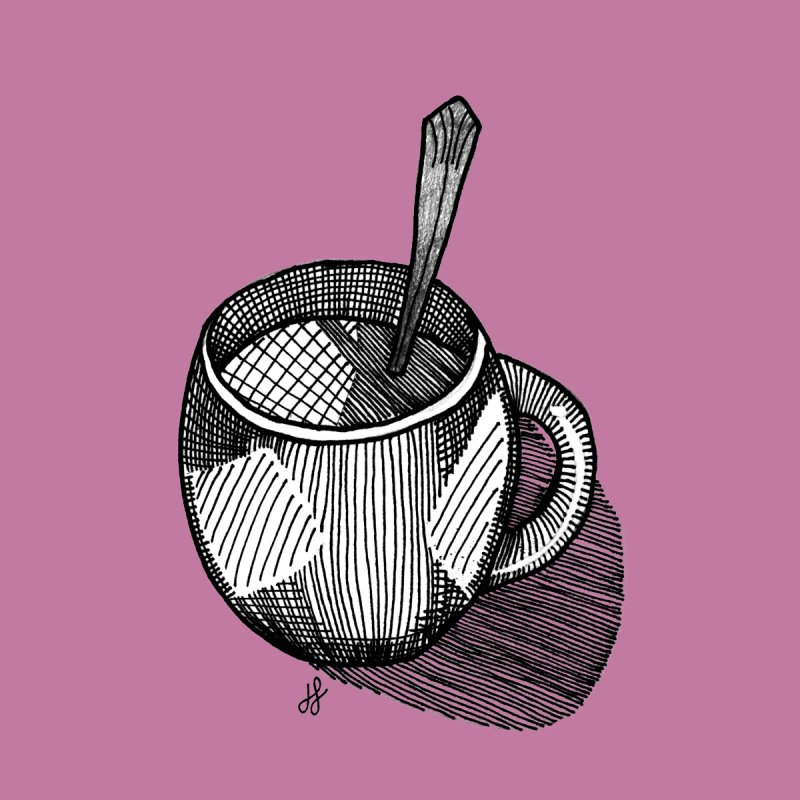coffee mug (monochrome version) by J. Lavallee's Artist Shop