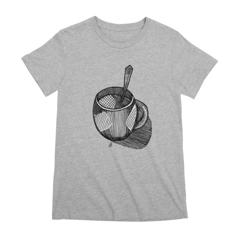 coffee mug (monochrome version) Women's Premium T-Shirt by J. Lavallee's Artist Shop
