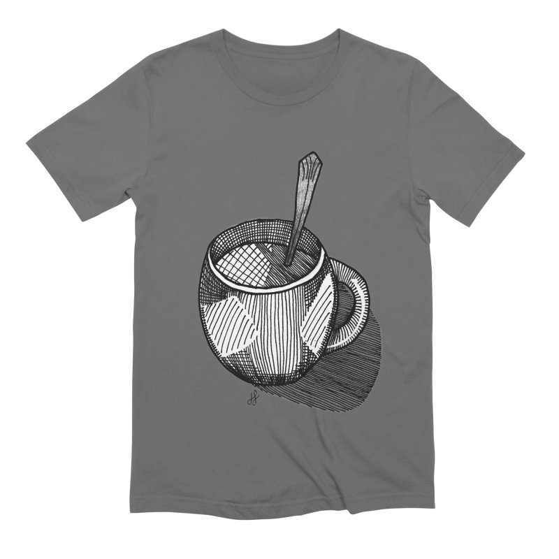 coffee mug (monochrome version) Men's T-Shirt by J. Lavallee's Artist Shop