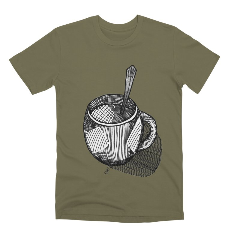 coffee mug (monochrome version) Men's Premium T-Shirt by J. Lavallee's Artist Shop