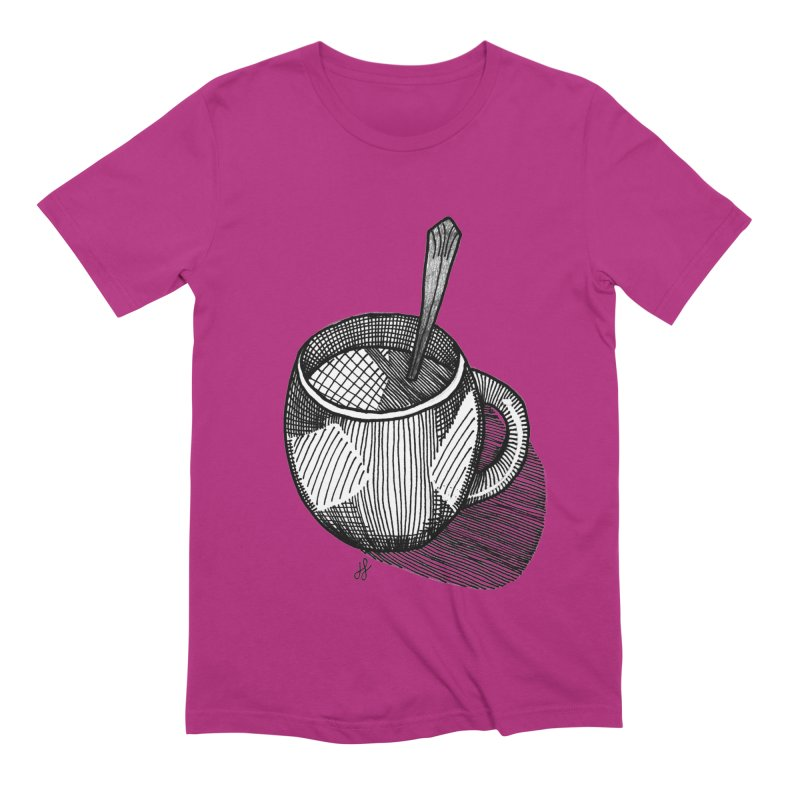 coffee mug (monochrome version) Men's Extra Soft T-Shirt by J. Lavallee's Artist Shop