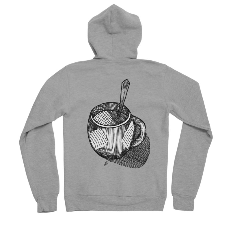 coffee mug (monochrome version) Men's Sponge Fleece Zip-Up Hoody by J. Lavallee's Artist Shop