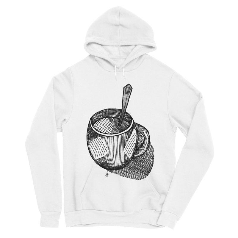 coffee mug (monochrome version) Men's Sponge Fleece Pullover Hoody by J. Lavallee's Artist Shop