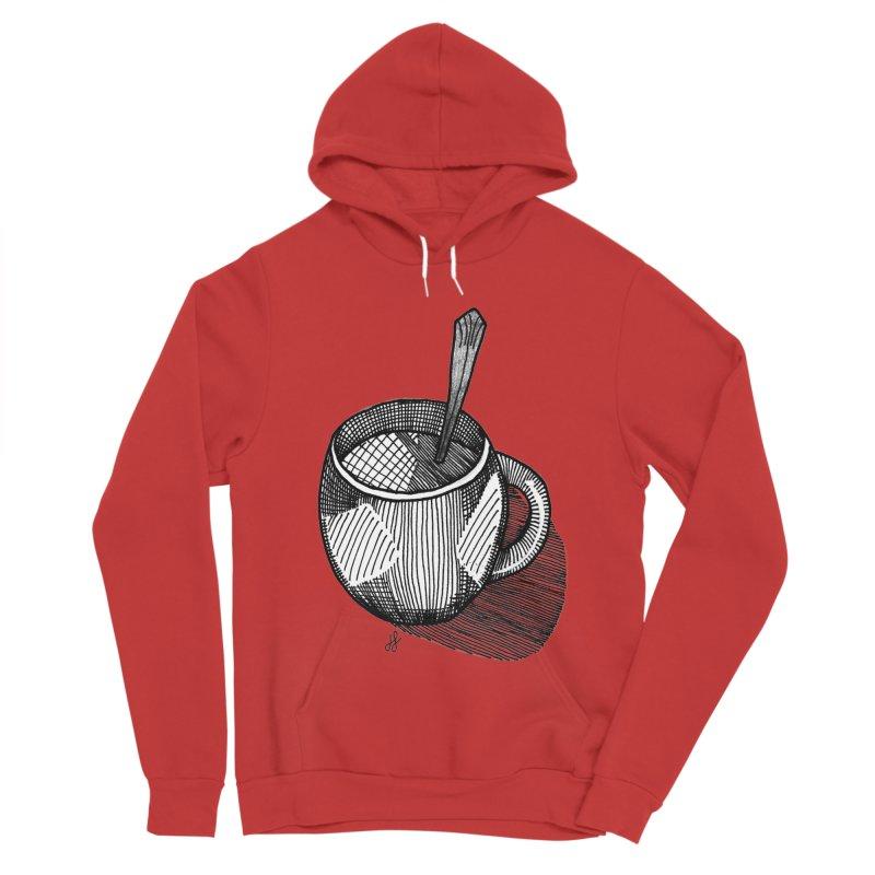 coffee mug (monochrome version) Women's Pullover Hoody by J. Lavallee's Artist Shop