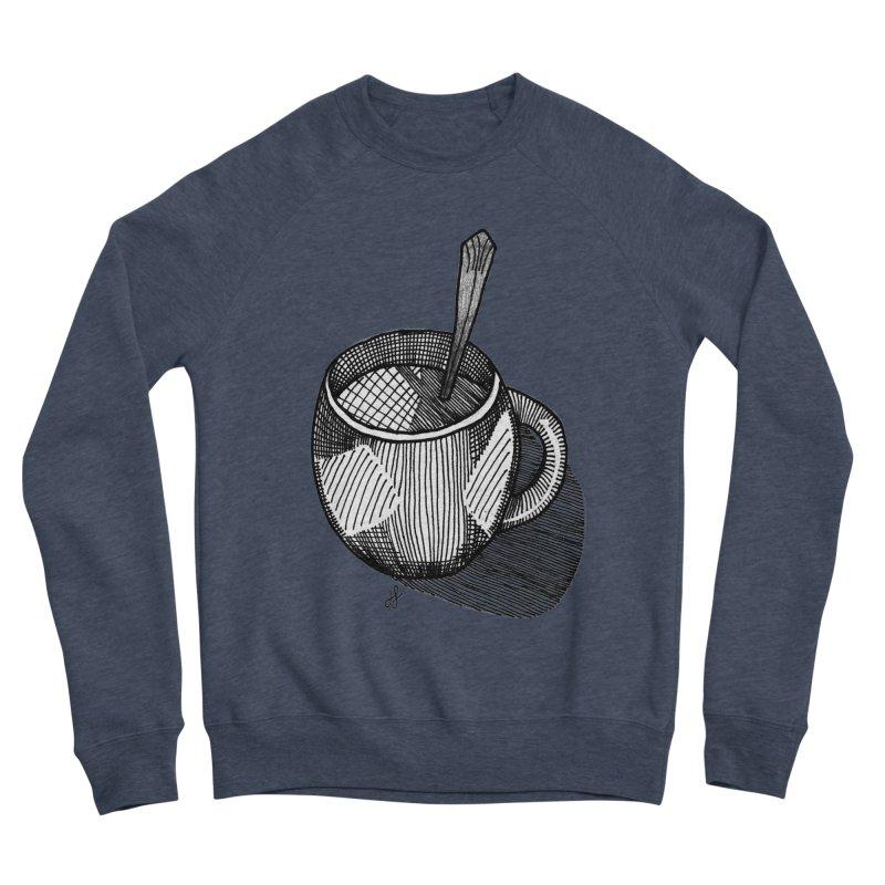 coffee mug (monochrome version) Women's Sponge Fleece Sweatshirt by J. Lavallee's Artist Shop