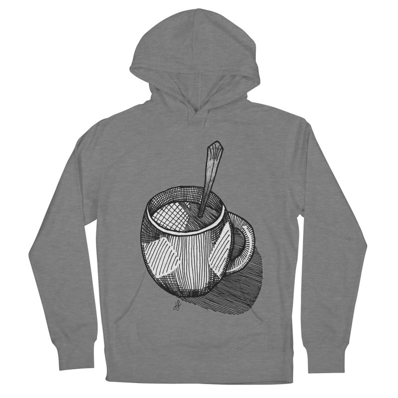 coffee mug (monochrome version) Women's Pullover Hoody by J. Lavallee's Artist Shop
