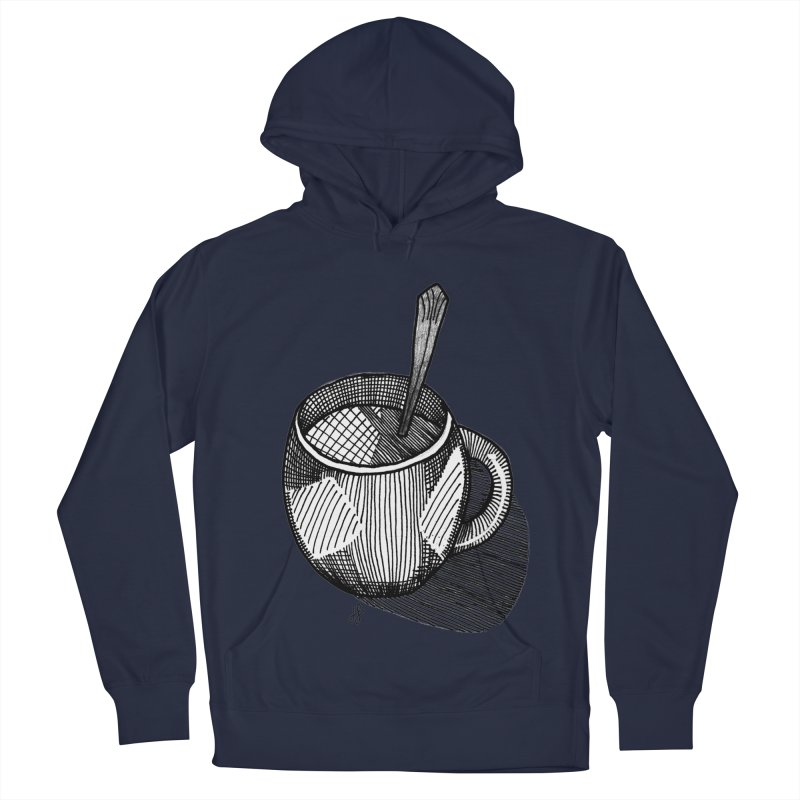 coffee mug (monochrome version) Women's French Terry Pullover Hoody by J. Lavallee's Artist Shop