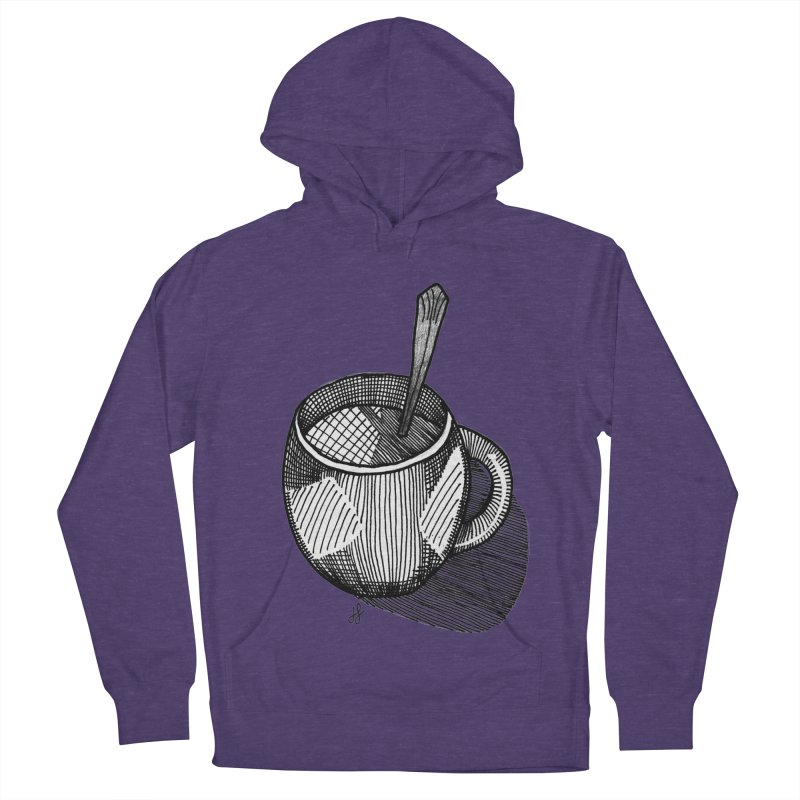 coffee mug (monochrome version) Men's French Terry Pullover Hoody by J. Lavallee's Artist Shop