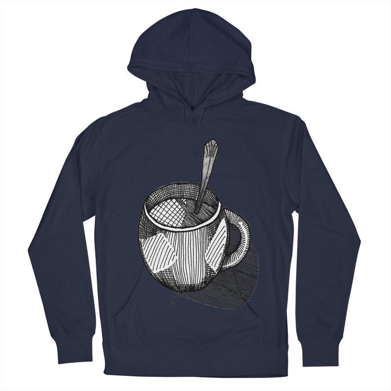 coffee mug (monochrome version) Men's Pullover Hoody by J. Lavallee's Artist Shop