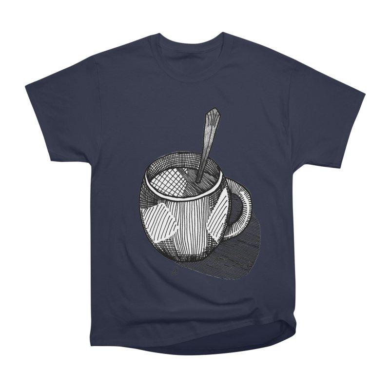 coffee mug (monochrome version) Women's Heavyweight Unisex T-Shirt by J. Lavallee's Artist Shop