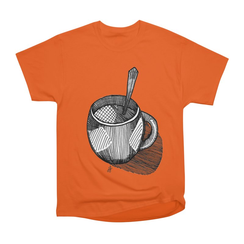 coffee mug (monochrome version) Men's T-Shirt by J. Lavallee's Artist Shop