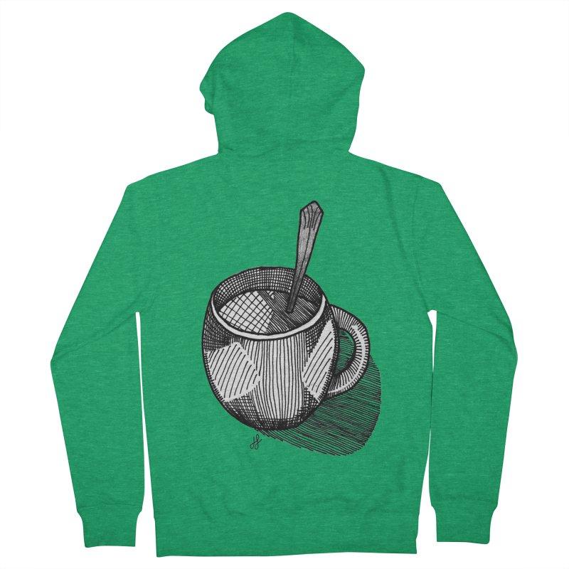 coffee mug (monochrome version) Women's Zip-Up Hoody by J. Lavallee's Artist Shop