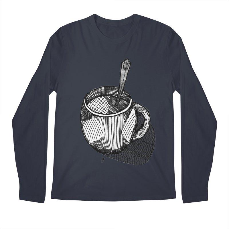 coffee mug (monochrome version) Men's Regular Longsleeve T-Shirt by J. Lavallee's Artist Shop