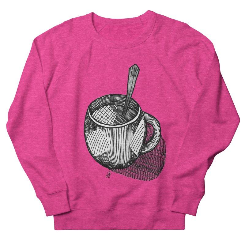 coffee mug (monochrome version) Women's French Terry Sweatshirt by J. Lavallee's Artist Shop