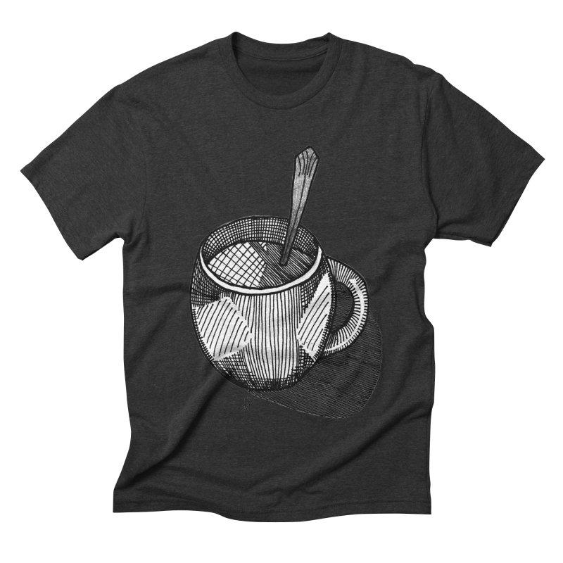 coffee mug (monochrome version) Men's Triblend T-Shirt by J. Lavallee's Artist Shop