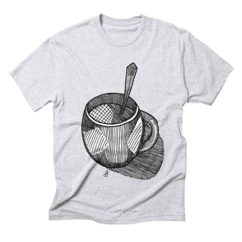 coffee mug (monochrome version) Men's Triblend T-Shirt by J. Lavallee's Artist Shop