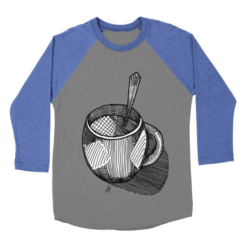 coffee mug (monochrome version) Women's Baseball Triblend Longsleeve T-Shirt by J. Lavallee's Artist Shop