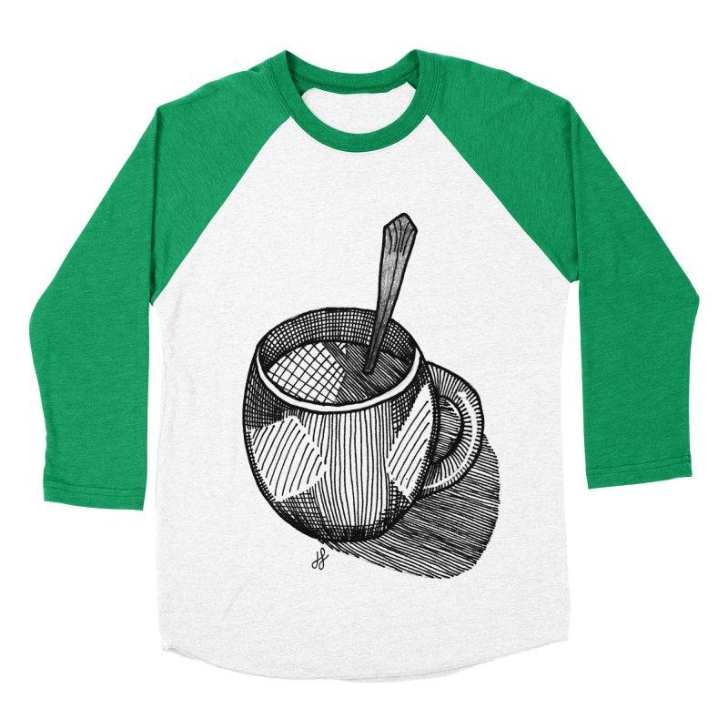 coffee mug (monochrome version) Men's Baseball Triblend Longsleeve T-Shirt by J. Lavallee's Artist Shop