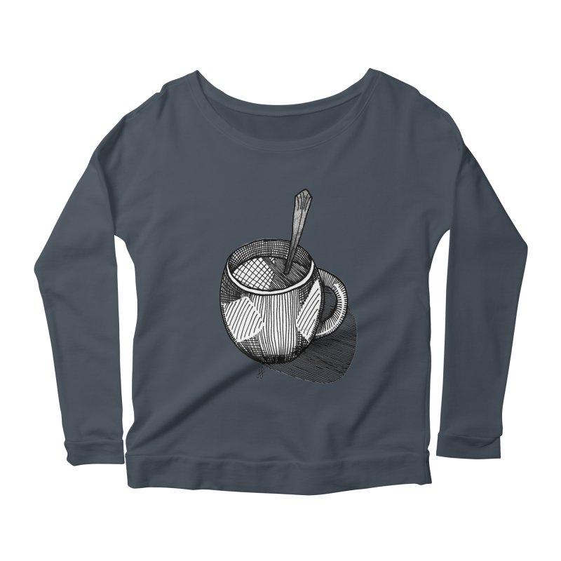 coffee mug (monochrome version) Women's Longsleeve T-Shirt by J. Lavallee's Artist Shop