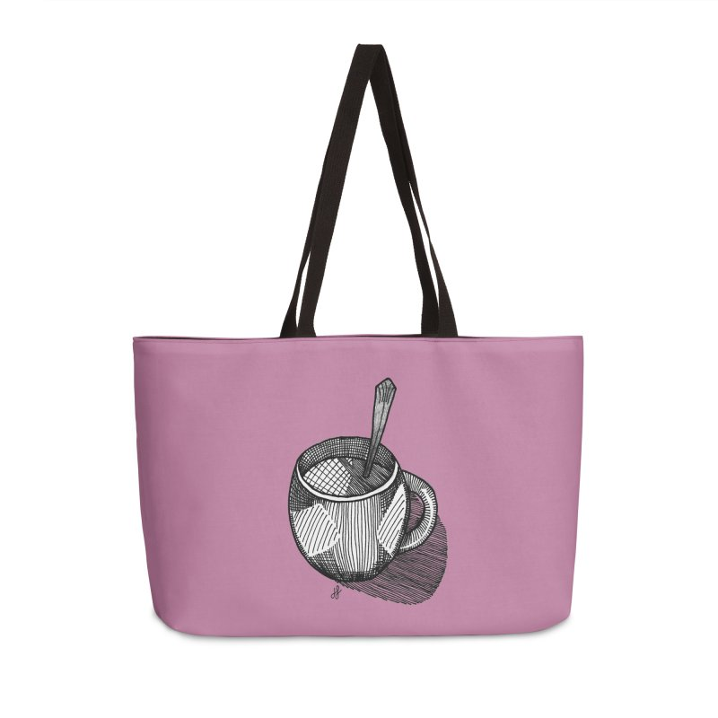 coffee mug (monochrome version) Accessories Bag by J. Lavallee's Artist Shop