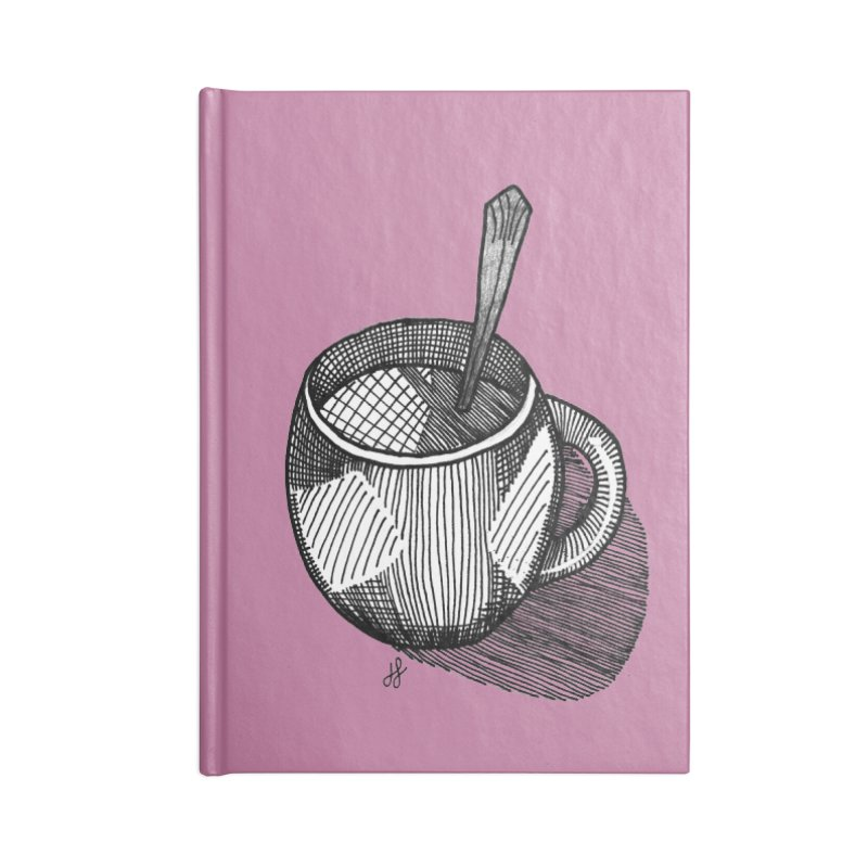 coffee mug (monochrome version) Accessories Blank Journal Notebook by J. Lavallee's Artist Shop