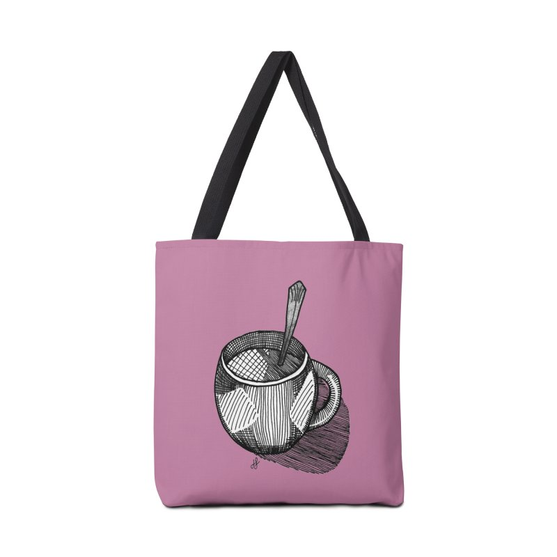 coffee mug (monochrome version) Accessories Tote Bag Bag by J. Lavallee's Artist Shop