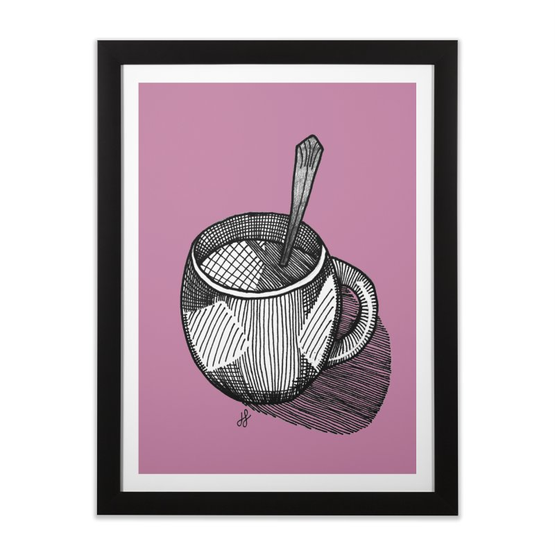 coffee mug (monochrome version) Home Framed Fine Art Print by J. Lavallee's Artist Shop