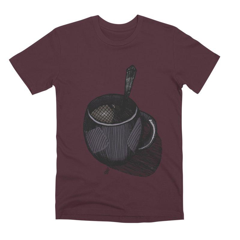 coffee mug (dark version) Men's Premium T-Shirt by J. Lavallee's Artist Shop