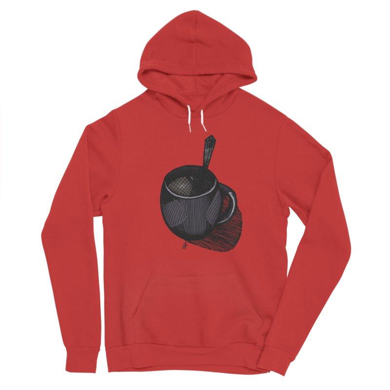 coffee mug (dark version) Women's Pullover Hoody by J. Lavallee's Artist Shop