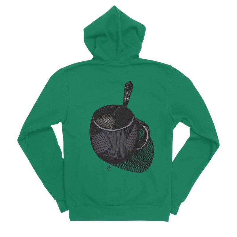 coffee mug (dark version) Women's Sponge Fleece Zip-Up Hoody by J. Lavallee's Artist Shop