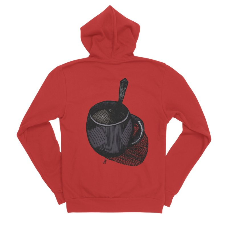 coffee mug (dark version) Men's Zip-Up Hoody by J. Lavallee's Artist Shop