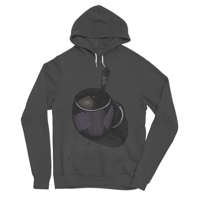coffee mug (dark version) Men's Sponge Fleece Pullover Hoody by J. Lavallee's Artist Shop