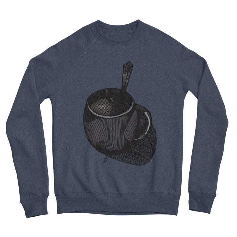 coffee mug (dark version) Women's Sponge Fleece Sweatshirt by J. Lavallee's Artist Shop