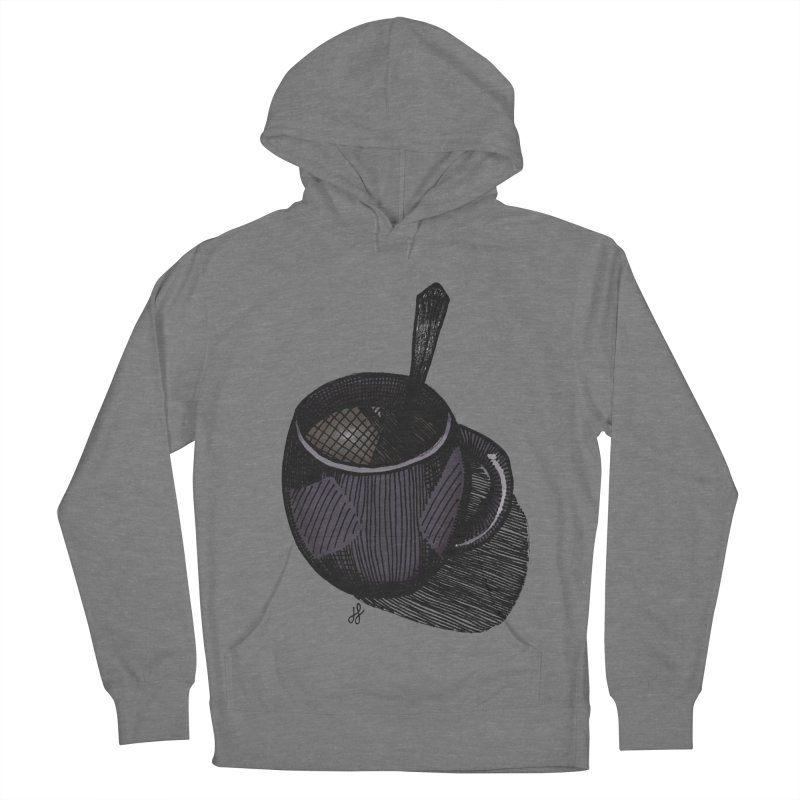 coffee mug (dark version) Women's Pullover Hoody by J. Lavallee's Artist Shop