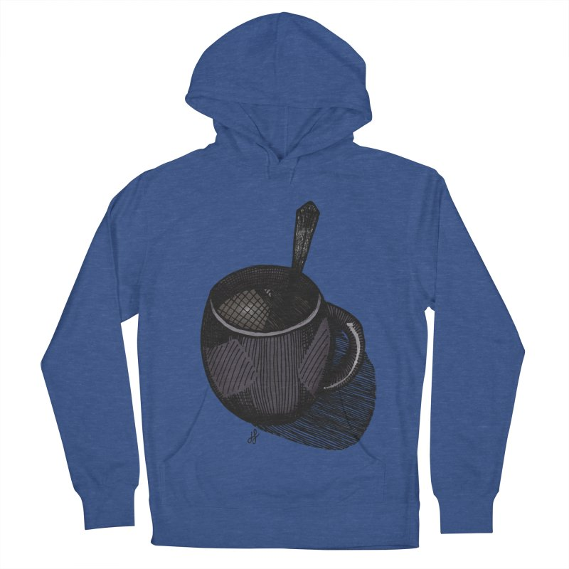 coffee mug (dark version) Men's French Terry Pullover Hoody by J. Lavallee's Artist Shop