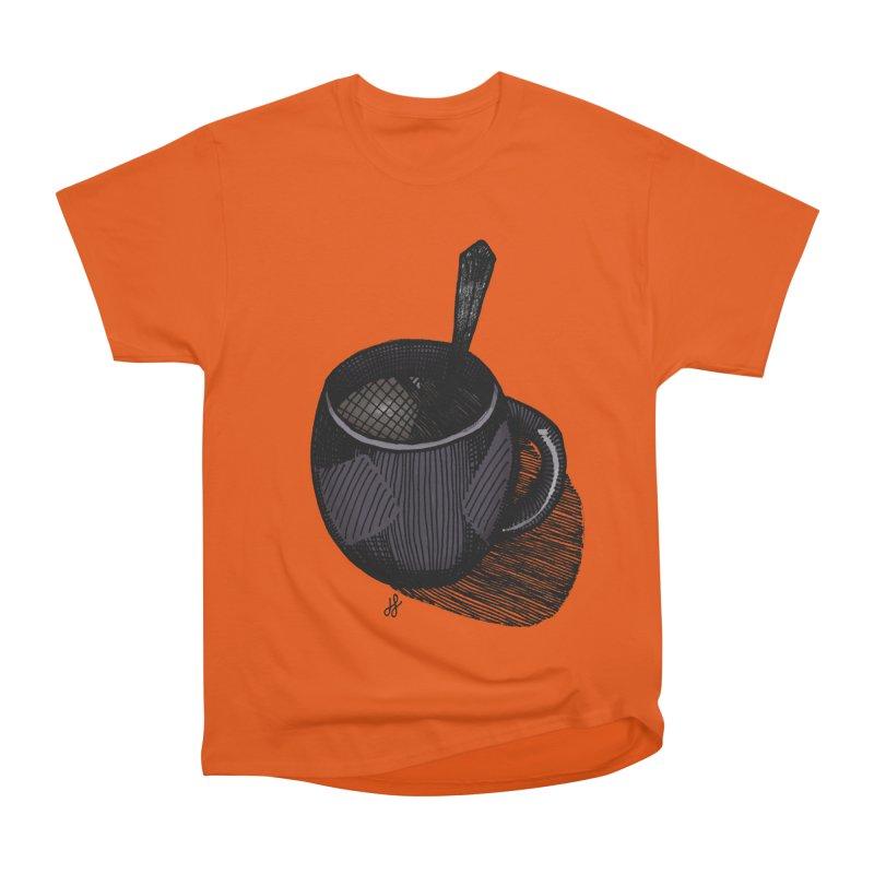 coffee mug (dark version) Women's Heavyweight Unisex T-Shirt by J. Lavallee's Artist Shop