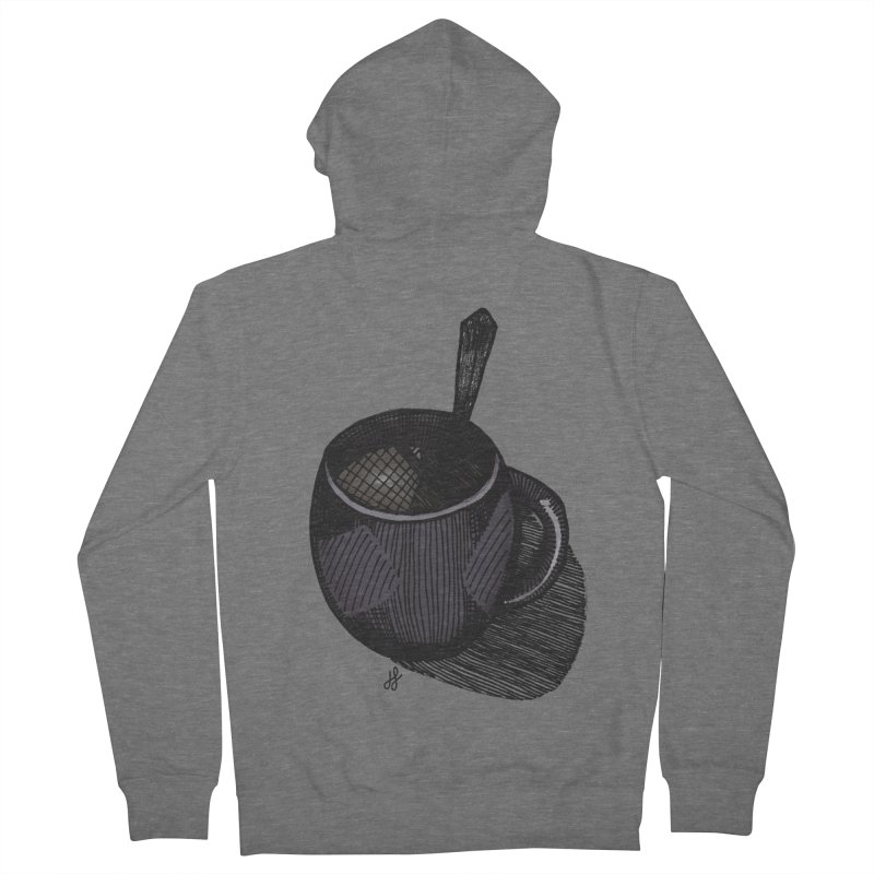 coffee mug (dark version) Women's French Terry Zip-Up Hoody by J. Lavallee's Artist Shop
