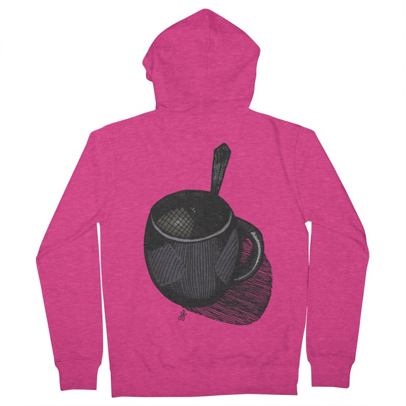 coffee mug (dark version) Women's French Terry Zip-Up Hoody by J. Lavallee's Artist Shop
