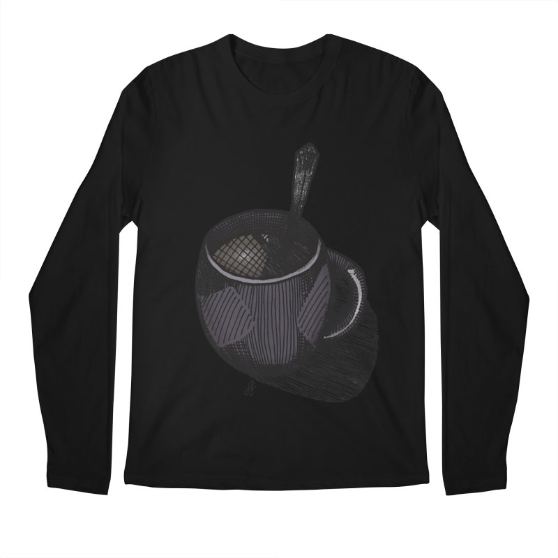 coffee mug (dark version) Men's Regular Longsleeve T-Shirt by J. Lavallee's Artist Shop
