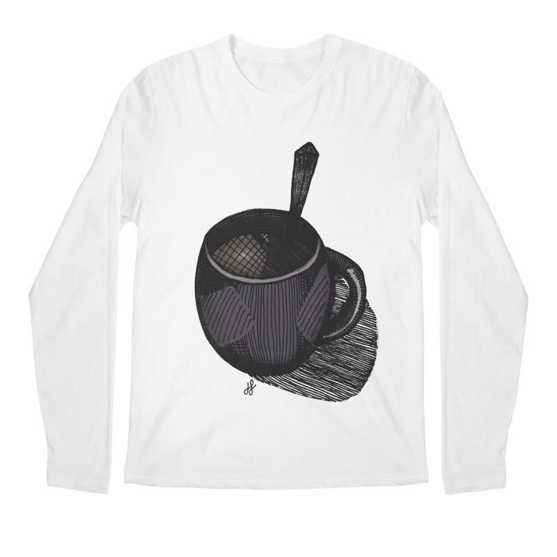 coffee mug (dark version) Men's Regular Longsleeve T-Shirt by J. Lavallee's Artist Shop
