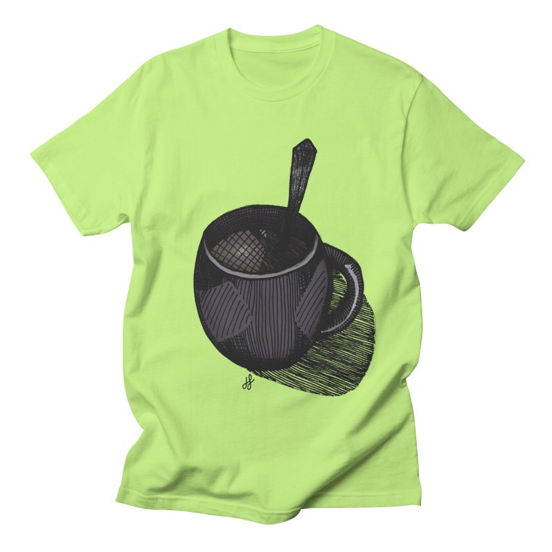 coffee mug (dark version) Men's Regular T-Shirt by J. Lavallee's Artist Shop