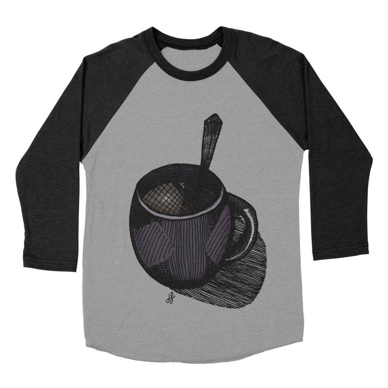coffee mug (dark version) Women's Baseball Triblend Longsleeve T-Shirt by J. Lavallee's Artist Shop
