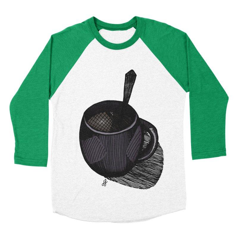 coffee mug (dark version) Men's Baseball Triblend Longsleeve T-Shirt by J. Lavallee's Artist Shop
