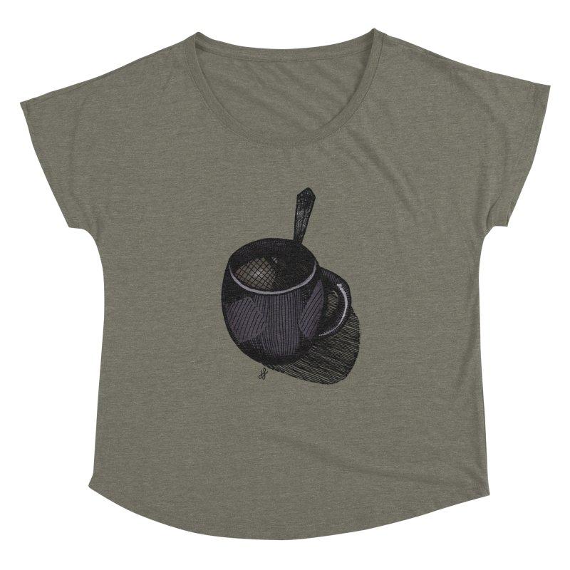 coffee mug (dark version) Women's Dolman Scoop Neck by J. Lavallee's Artist Shop